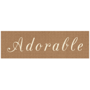 Apple Crisp- Adorable Word Art