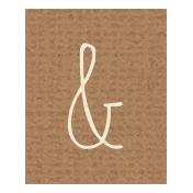 Apple Crisp- Ampersand Word Art