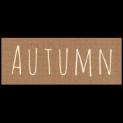 Apple Crisp- Autumn Word Art