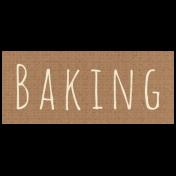 Apple Crisp- Baking Word Art