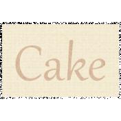 Apple Crisp- Cake Word Art