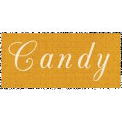Apple Crisp- Candy Word Art