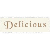 Apple Crisp- Delicious Word Art
