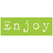 Apple Crisp- Enjoy Word Art