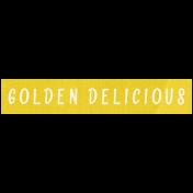 Apple Crisp- Golden Delicious Word Art