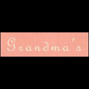 Apple Crisp- Grandma's Word Art