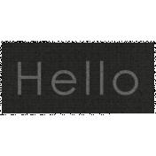 Apple Crisp- Hello Word Art