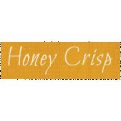 Apple Crisp- Honey Crisp Word Art