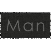 Apple Crisp- Man Word Art