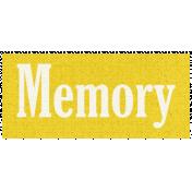 Apple Crisp- Memory Word Art