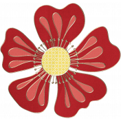 Apple Crisp- Flower Doodle 05