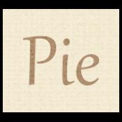 Apple Crisp- Pie Word Art