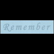 Apple Crisp- Remember Word Art