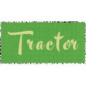 Apple Crisp- Tractor Word Art