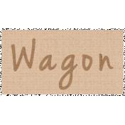 Apple Crisp- Wagon Word Art