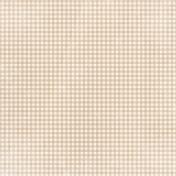 Apple Crisp - Tan Gingham Paper