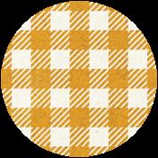Apple Crisp- Orange Gingham Brad Disk
