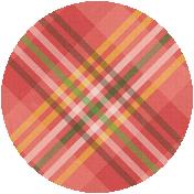 Apple Crisp- Plaid Brad Disk
