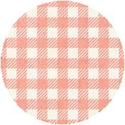 Apple Crisp- Pink Gingham Brad Disk
