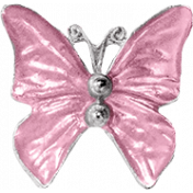 Day of Thanks- Pink Butterfly Charm