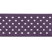 Day of Thanks- Purple Dotted Ribbon