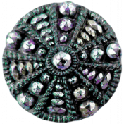 Day of Thanks- Teal Button 02