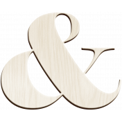Day of Thanks- Wooden Ampersand