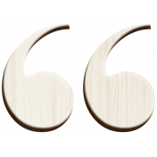 Day of Thanks- Wooden Open Quote