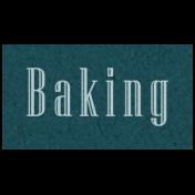 Day of Thanks- Baking Word Art