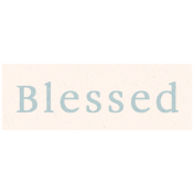 Day of Thanks- Blessed Word Art