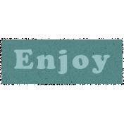 Day of Thanks- Enjoy Word Art