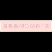 Day of Thanks- Grandma's Word Art