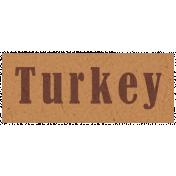 Day of Thanks- Turkey Word Art