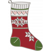 Home for the Holidays Doodle Kit 2- Stocking Doodle