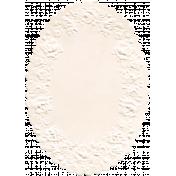Treasured Mini- Oval Doily