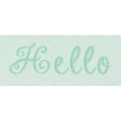 New Day- Hello Word Art