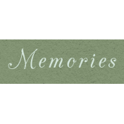 New Day- Memories Word Art