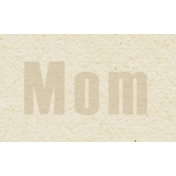 New Day- Mom Word Art