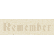 New Day- Remember Word Art