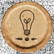 Toolbox Alphabet Bingo Chip Extras - Lightbulb Bingo Chip