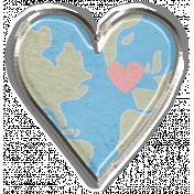 Love Knows No Borders Mini- Heart Brad