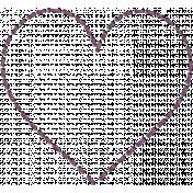 New day- Unshadowed Purple Heart Stitch