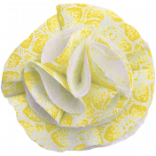 New day- Yellow Fabric Flower
