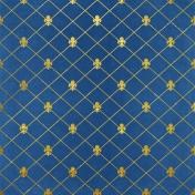 All The Princesses - Blue Fleur Paper