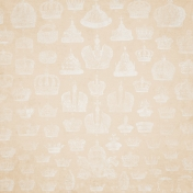 All The Princesses- Cream Crown Stamp Paper