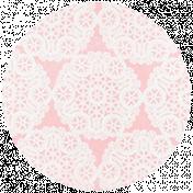 All the Princesses- Pink Doily Brad Disk