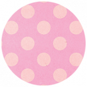 All the Princesses- Pink Dotted Brad Disk