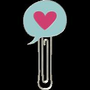 All the Princesses- Speech Bubble Heart Doodle Clip 01