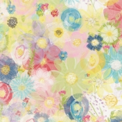 All The Princesses - Painted Flowers 02 Paper