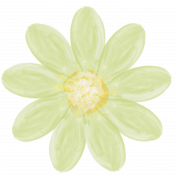 All the Princesses- Painted Green Flower 02
